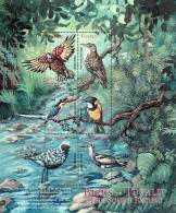 Tuvalu 2000 Birds Aves Oiseaux Vegels Lorikeet Treecreeper-Kingfisher-Wh Istler-Plover-Thick Sheet Of 6 MNH - Perroquets & Tropicaux