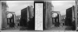 Plaque Stereo Gand Chateau Des Comtes Cour D'honneur - Glasplaten