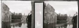 Plaque Stereo Gand Chateau Des Comtes Canal - Plaques De Verre