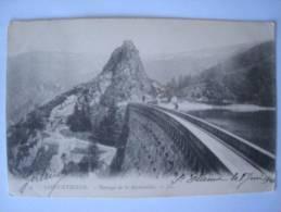 CPA Ancien Saint Etienne 1904 Barrage La Rochetaillée - Papel Secante