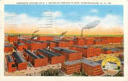 ETATS-UNIS - WINSTON SALEM - Composite Picture Of R.J. Reynolds Tobacco Plants - Winston Salem