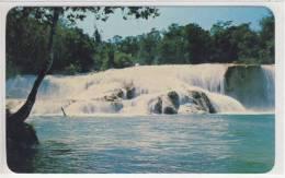 CHIAPAS - the waterfalls at aqua azul -  ca - 1968