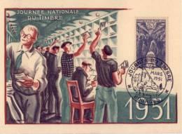 N° 879 Sur Carte Maxi 1er Jour ( Bourges ) - Cartes-Maximum