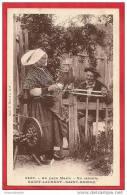 CPA N°3008 / AU PAYS MARIN - EN RETRAITE - SAINT-LAURENT - SAINT-BRIEUC - COSTUMES ET COIFFES - Saint-Brieuc