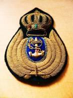 Insigne Marine Brodé Doré Relief  8x6 Cm - Patches