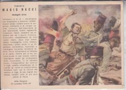 """MILITARI SOLDATI COLONIALI ESERCITO """"MEDAGLIA D´ORO MARIO NACCI""""FRANCHIGIA POSTALE PER LE FORZE ARMATE- AUTENTICA 100%- - Patriottiche"""