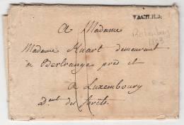 Marque Noir V ACTT.R.G. Sur Pli De Rotenburg 1803 POUR LE Luxembourg PLI FATIGUE - ...-1852 Prephilately