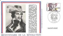_38 Bicentenaire De La Révolution 1991 Saint Just - FDC