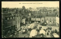 45 - MEUNG SUR LOIRE - Le Marché - ANIMÉE - Autres Communes