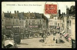 45 - PITHIVIERS - Foire Saint Georges - Place Du Marché - ANIMÉE - Pithiviers
