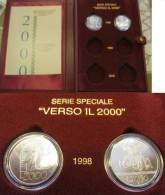 REPUBBLICA - Dittico 1998 FDC Verso Il 2000 Con Cofanetto, 2 X 2000 Lire Argento - Commemorative