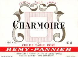 ETIQUETTE NEUVE CHARMOIRE VIN DE TABLE ROSE REMY PANNIER ST HILAIRE ST FLORENT BRASSERIES MATHIEU GESPUNSART ARDENNES - Unclassified