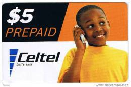 Zambia, $5, Celtel, Let´s Talk, Boy, 2 Scans. - Zambia