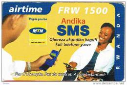Rwanda, FRW 2500, Airtime, Pay As You Go, Andika SMS, 2 Scans. - Rwanda