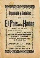 Programa Cantables EL PAIS De Las HADAS, Musica Maestro Calleja. Barcelona - Programmes