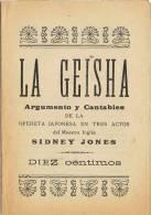 Programa Cantables LA GEISHA De Sidney Jones. Barcelona - Programas