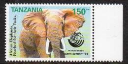 Tanzania 958 Elephant Earth Summit '92 MNH - Olifanten