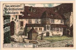 400 Jahre Reformation Luther 1517 1917 Erfurt Proriatsgebäude Signiert Kallista TOP-Erhaltung Ungelaufen - Other