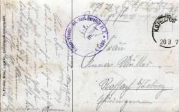 1917, K.D.Feldpost, Preuss.Landst.-Inf.-Batl. Hersfeld XI.7. * 4.Komp., LAGARDE (Moselle), gesprengte Br�cke