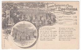 RESTAURANT - Grande Restaurant Al Teatro Lido - Venezia, Folded - Alberghi & Ristoranti