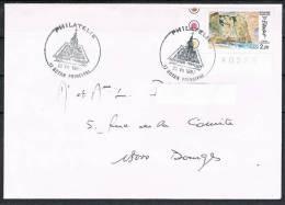 Oblitération ROYAN Principal Philatélie Du 22.VII.1987 Sur Timbre YT 2463 Falaise Etretat- Peinture Delacroix - Bolli Manuali
