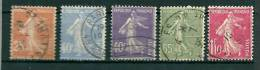 FRANCE 1926 -27 YT 234 235 236 237 238 TB - Used Stamps