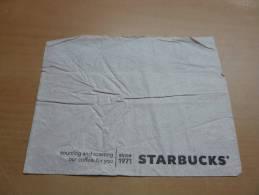 """Serviette Papier """"STARBUCKS"""" Etats-Unis 16,5x13,2cm Pliée - Serviettes Publicitaires"""