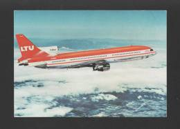 POSTCARD AIRLINE ISSUED LTU AIRCRAFT LOCKHHED L-1011 TRISTAR AIRPLANE AVIONS - 1946-....: Moderne