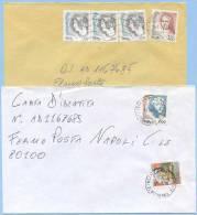 1999 TARIFFA FERMO POSTA L. 1100 (800+300) DIRITTO MITTENTE 2 DIFFERENTI 1 PURA + 1 MISTA L. 1000 DONNE LIRE (5457) - 6. 1946-.. Repubblica