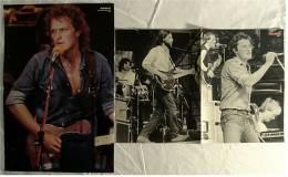 2 Kleine Musik Poster  Gruppe BAP / Wolfgang Niedecken -  Rückseite : Sascha Hehn ,  Von Pop-Rocky Und Bravo Ca. 1982 - Plakate & Poster