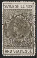 NEW ZEALAND QV 1880 Stamp Duty 7/6d  Fine Used ..................... .17484 - Non Classés