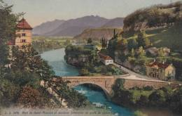 CPA - St Maurice - Pont De St Maurice Et Ancienne Forteresse Au Poste De Police Vaudois - VS Valais