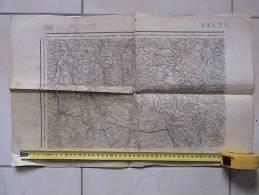 DEPT. GERS. - . CARTE TOPOGRAPHIQUE LECTOURE. ASTAFFORT, CONDOM,; ETC...ETC... - Mapas Topográficas