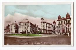 BRAZIL RECIFE PERNAMBUCO PRACA RIO BRANCO,REAL PHOTO PRINTED IN ITALY OLD POSTCARD - Recife