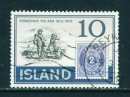 ICELAND - 1973 Stamp Centenary 10k Used (stock Scan) - Used Stamps
