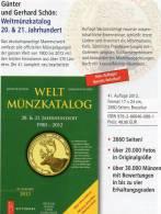 Coins Welt-Münzkatalog 2013 New 50€ Münzen 20./21.Jahrhundert A-Z Battenberg Verlag Europa Amerika Afrika Asien Ozeanien - Literatur & Software