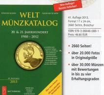 Welt-Münzkatalog 2013 Schön Neu 50€ Münzen 20/21.Jahrhundert A-Z Coins Of The World Europa Amerika Afrika Asien Oceanien - Monnaies