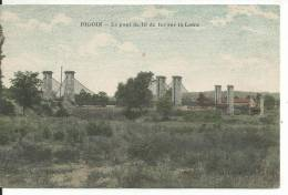 34/1303/71 - DIGOIN,l E Pont De Fil De Fer Sur La Loire - Digoin