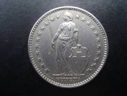 SWITZERLAND 1968 B  TWO FRANCS Copper-nickel USED COIN In GOOD CONDITION. - Suiza