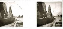 Plaque Stereo Dinant Meuse - Plaques De Verre