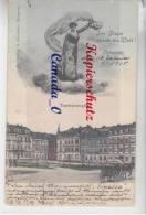 """P -  3 --  Mittweida Tzschirnerplatz """"Im Fluge Durch D.Weklt""""  18.1.1905 - Mittweida"""