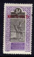 Haute Volta  N ° 17 X 5 F.  Violet Et Noir  Trace Charnière Sinon TB - Obervolta (1920-1932)