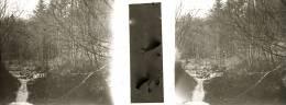 Plaque Stereo Cascade De La Hoegne  à Sart - Plaques De Verre