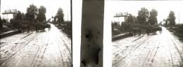 Plaque Stereo Route De Profondville à Chiny Semois Attelage - Glasplaten