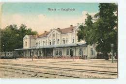 ALVINC, Alvincz : La Gare Intérieure. 2 Scans. Edition Izraël Salamon - Roumanie
