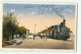 SOMOVIT, Gara Somovit : Souvenir, La Gare Avec Train. Beau Plan. 2 Scans. - Roumanie