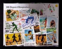 100 SELLOS DE OLIMPIADAS - OLYMPICS  - (TODOS DIFERENTES) (ALL DIFFERENT) - Sellos