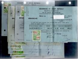 1939-1947 ASSURANCE ET CREDITS MUTUELS  /10 RECUS/A LA VENTE LE NOM SERA APPARENT - Vieux Papiers