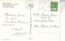 FLAMME DIJON FOIRE DES LOISIRS SUR CARTE POSTALE - Marcophilie (Lettres)