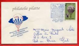 HAITI N°395 BALLON SUR LETTRE FDC DE NOVEMBRE 1968 - Montgolfier